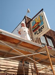 Fawna Odom, owner of the HiWay Bar, is restoring the building that houses her bar on Jefferson Avenue in Hayden. When construction is finished, the building will resemble how it looked when it was built in the 1880s.