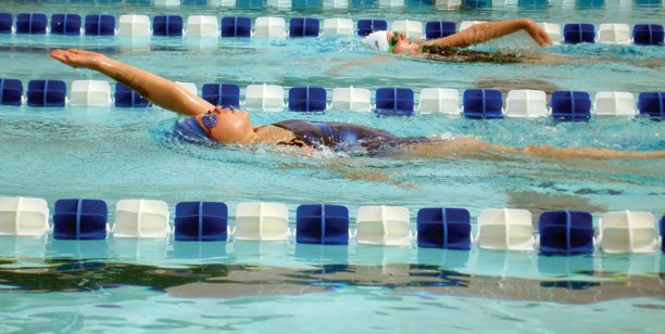 Laurel Tegtman competes at a recent meet as a member of the Sea Sharks. The Craig swimming group is sending several swimmers to various postseason meets.