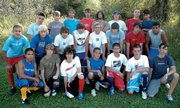 The Moffat County soccer team. Front row, from left: Oscar Ramos, Cole DuBois, Eli Voyich, Victor Villa, Jose Olivarez, Dustin Carlson and Chris Copeland; second row, from left: Fernando Duarte, Craig Toovey, Spencer Wayman, Nick Glispy, Ian Forgay, Tyler Ketchum, Zach White and Curtis Lorio; back row, from left: Jesus Loya, Robbie Herring, Bryce Ponikvar, Scott Smith, Mike Lefler, Scott Toovey, Sawyer Smith and Jose Valdez.