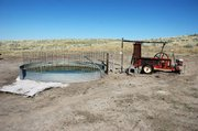 Planned improvements to the ranche's livestock watering system by the NRCS include an overflow to create a wet area that benefits sage grouse in the area. Chicks need bugs and soft plants to survive, and the wet areas provide the proper habitat for rearing young birds.