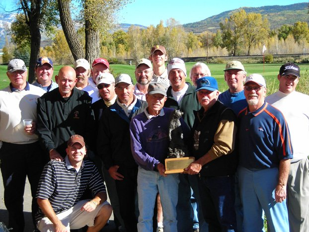 Members of the 2007 Craig Yampa Cup team display the trophy they took home after beating the Steamboat Springs Golf Club in the 14th annual Yampa Cup tournament Sept. 30.