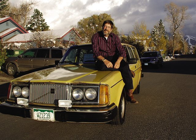 "Steamboat Springs-based landscape photographer Jim Steinberg has put 500,000 miles on his 1980 Volvo station wagon, nicknamed ""Old Yeller."" He treats the car like a four-wheel-drive hotel."
