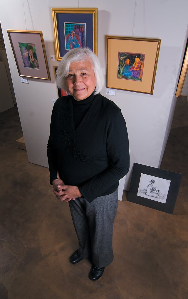 Sandra Sherrod stands in the Artist's Gallery of Steamboat. Sherrod was the founding director of the local gallery, which is approaching its first full year of business. The gallery will celebrate its first birthday at 5 p.m. today.