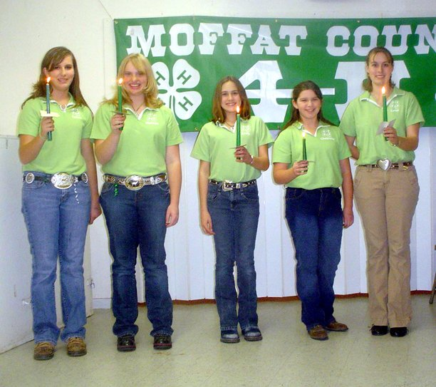 4-H Council officers include,  from left, Karissa Maneotis, president and senator; Makayla Goodnow, vice president; Emily Wellman, secretary/treasurer; Cheyenne Ossen, fair board representative; Lyndi Wellman, fair board representative alternate.