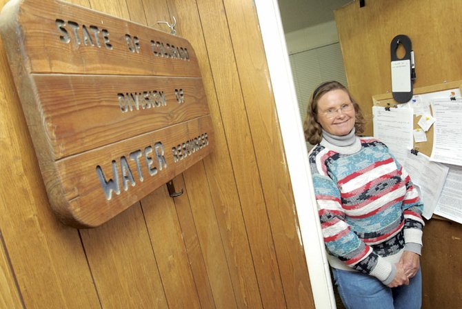 Kathy Bower, division 6 water commissioner for the Department of Natural Resources, inside her office on Yampa Avenue. She was recently named Division 6's Water Commissioner of the Year.