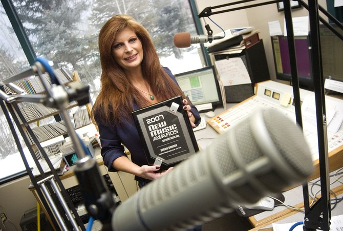 KBCR music director Debbie Duncan, shown here in the station's studio in Steamboat Springs on Friday afternoon, recently won the title of 'Country Music Director of the Year' at a Nov. 10 awards show hosted by New Music Weekly magazine.
