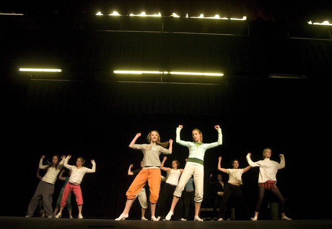 Steamboat Springs High School students practice on stage Thursday evening for the 2008 Dance Showcase coming up Jan. 31 and Feb. 1 and 2.