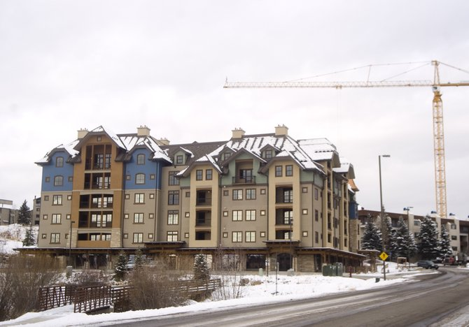 The Highmark development sits vacant at the corner of AprÃs Ski Way and Village Drive in Steamboat Springs on Thursday.