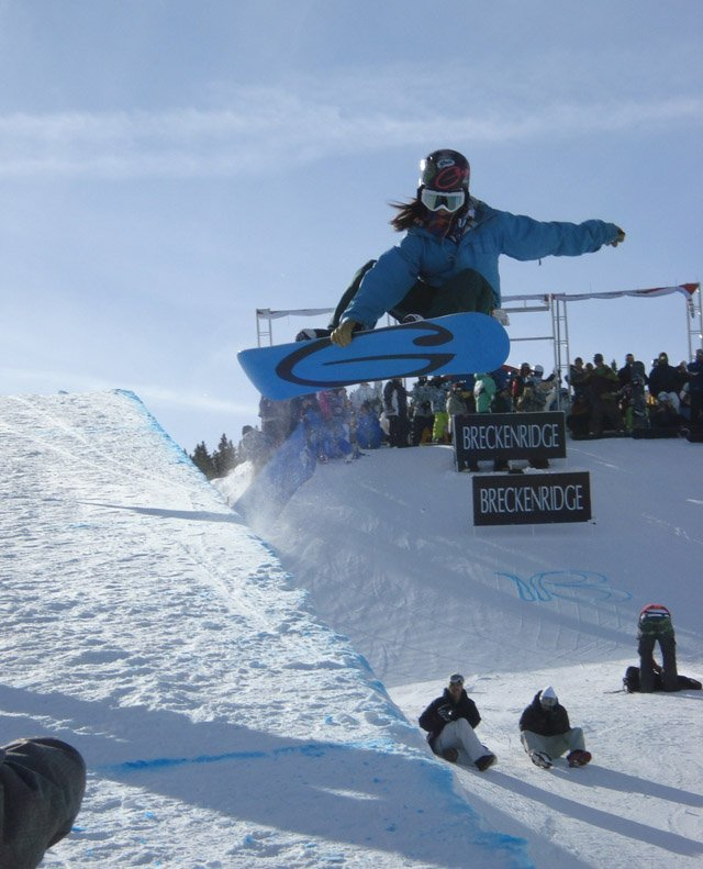 Steamboat Springs Winter Sports Club rider Valerie Reynolds was one of seven qualified local snowboarders that competed among the world's best at the Chevrolet U.S. Snowboarding Grand Prix, held Friday and Saturday at Breckenridge Ski Resort