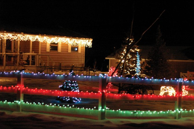 Clint Gabbert's work and design at his 11327 County Road 103 location earned him the top prize in the holiday lighting contest.