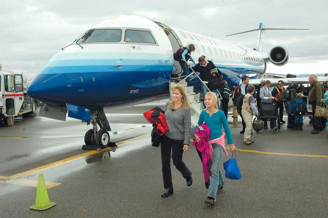 Come April, the entire fleet of planes that United Express flies out of Yampa Valley Regional Airport will be similar to the jet that is shown in this December 2006 photo.