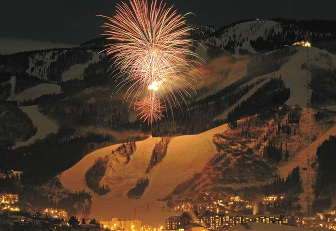 Fireworks boom over Mount Werner in this photo from Dec. 31, 2006. Tonight's fireworks display and torchlight parade event is from 6 to 10 p.m. at Steamboat Ski Area.