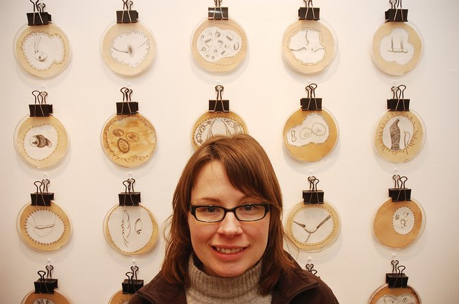 "Cynthia Zyzda's exhibit, ""Specimens of Memory"" opens tonight at the K. Saari Gallery."