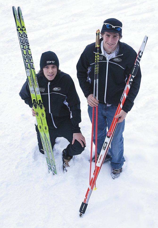 Brett Denney, left, and Taylor Fletcher both qualified for the Junior World Championships later this winter during a road trip to Lake Placid, N.Y., and the new Olympic venue in Canada. Fletcher was not only the top qualifying American, but also earned his second-straight North American Junior title during the trip.