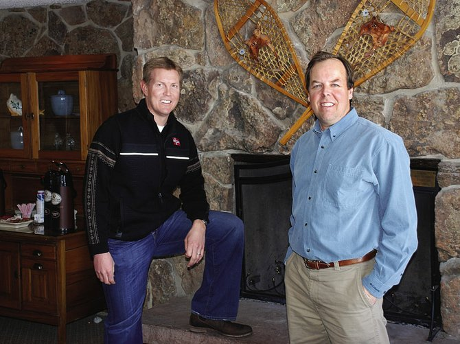 Scott Rotermund, left, and Dave Thorp recently purchased The Inn at Steamboat from Glen Zabel for $3.65 million and intend to raise its rooms to the level of luxury.