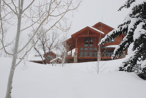 The two halves of this townhome/duplex on Ski Trail Lane sold this month for $5.3 million and $5.4 million, respectively, to buyers from Missouri and Connecticut.