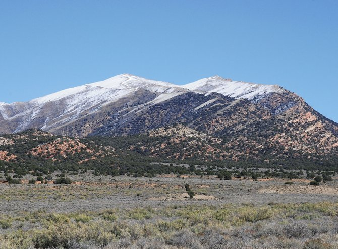 The rugged mountains guarding the western entrance to Brown's Park wore a fresh dusting of snow in October 2007.