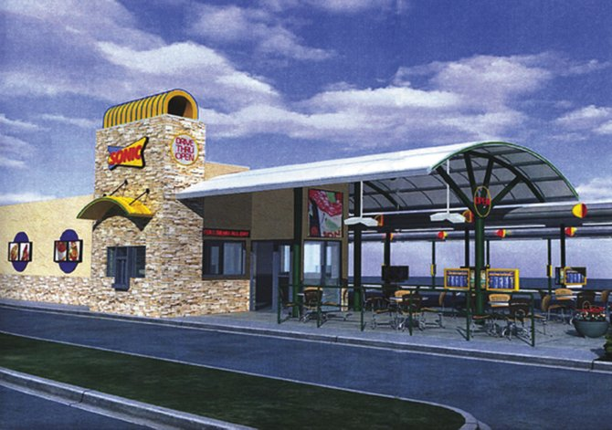 An illustration of Craig's planned Sonic Drive-In Restaurant. Final plans will differ slightly, said Dave Costa, Craig community development director.