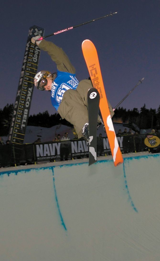 Gina Gmeiner of Steamboat Springs goes big on her way to placing sixth at Winter X Games 11 last year in Aspen. Gmeiner placed seventh in Friday's Women's Superpipe final in this year's Winter X Games, also in Aspen.