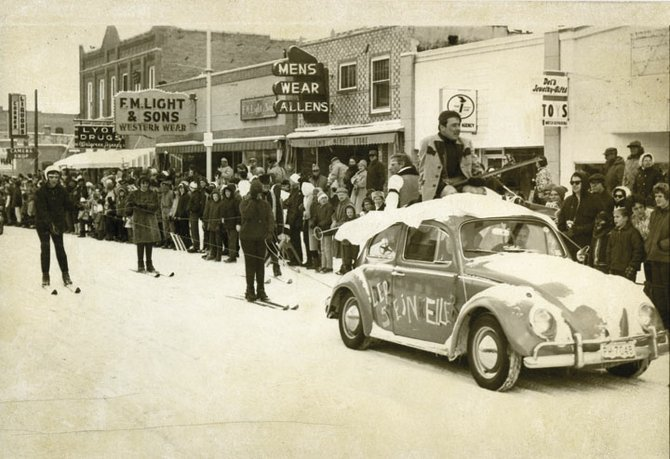 Crowds line Lincoln Avenue during the parade from the 1966 Winter Carnival. The Tread of Pioneers Museum will show historic Winter Carnival footage at noon and 5:30 p.m. today at Centennial Hall.
