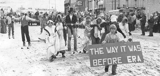"Winter Carnival took on an annual theme in 1955 to make it easier to choose costumes for the Winter Carnival Parade. In 1976, the theme was ""1876 - The Way It Was."" The theme for 1977, ""Steamboat Springs - The Way It Is,"" was more proactive."