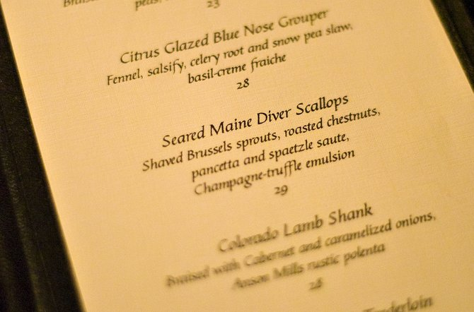 Seared Maine Diver Scallops are one of the chef&#39;s favorite items on the menu at Cafe Diva restaurant in Steamboat Springs.