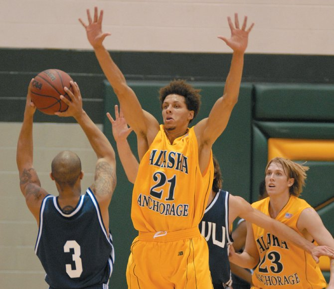 While Cameron Burney isn't the focal point on offense, the junior guard has become Alaska Anchorage's most versatile defender. With his size, Seawolves coach Rusty Osborne said Burney guards a number of positions on the court.