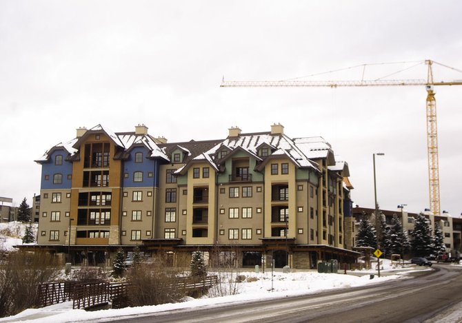 The Highmark development sits vacant at the corner of Apres Ski Way and Village Drive in Steamboat Springs on Nov. 29, 2007.