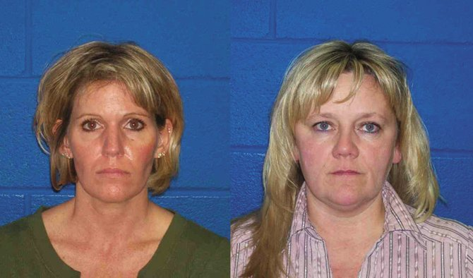 Routt County residents Terri Dawn Moody Fatka, left, and Pamela Jean Williams, right, have been accused of stealing more than $900,000 from account holders at Alpine Bank in Steamboat Springs.