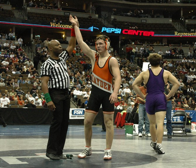 Hayden junior Coy Letlow lost his Saturday consolation semifinal to Byers' Steven Turecek but battled back to beat Wray's Paul Campfield in overtime for fifth place in the 189-pound class.