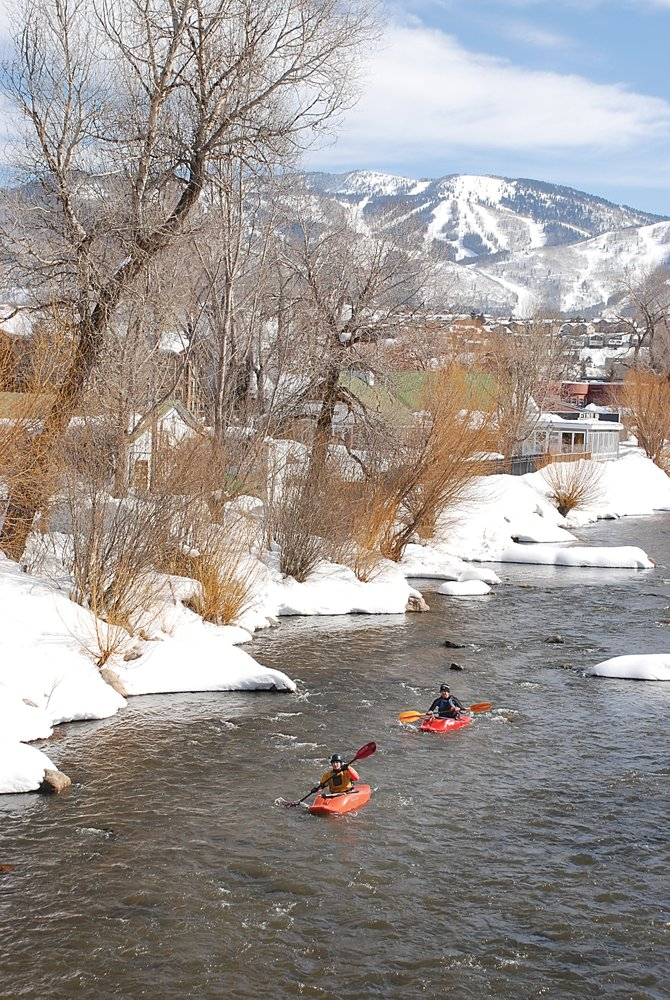 Larah Sadar and Corey Lincoln take advantage of mild Leap Day temperatures Friday to get in their second paddling session of the week. The National Weather Service is forecasting increasing cloudiness for today. For more on the Yampa River plan, see page 3.