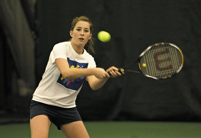 Sophomore Kylee Swiggart is expected to fill the Steamboat Springs High School girls tennis team's No. 1 doubles slot along with partner Sara Bearss when the team takes the court for the start of the 2008 season.