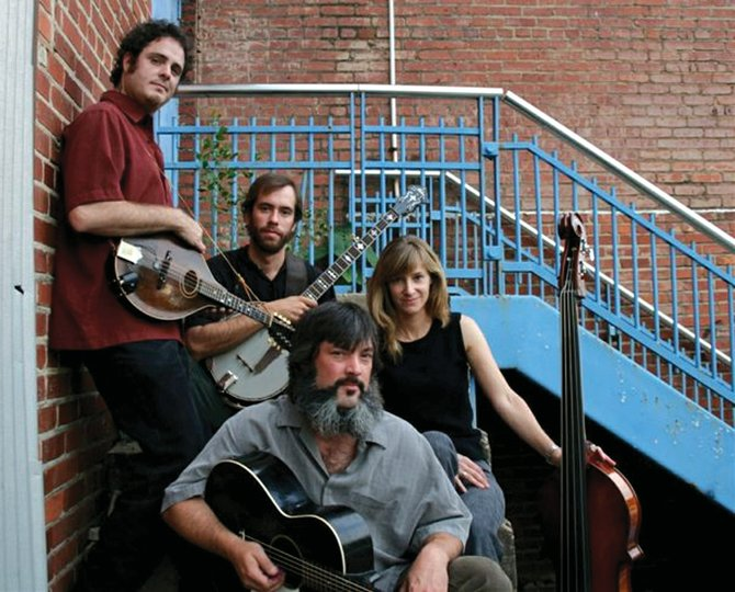 Larry Keel, seen here with his band Natural Bridge, traces bluegrass music to its traditional Irish roots. Growing up in the Blue Ridge Mountains, Keel said he was introduced to bluegrass at an early age.