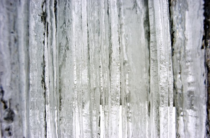 A wall of icicles shrouds the Interiors with Altitude building in Steamboat Springs on Thursday afternoon. With heavy snow forecast for the area this weekend, the Steamboat Ski Area stands poised to break the annual ski season snowfall record.