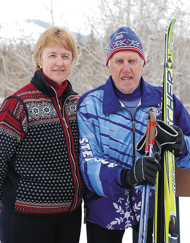 Birgitta Lindgren and her father, Sven Wiik, recently returned from the Masters World Cup cross-country skiing championships in McCall, Idaho. Wiik claimed a pair of silver medals in his age group.