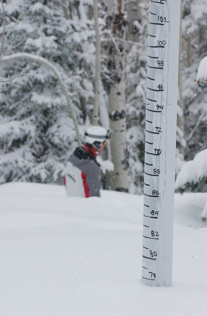 The Steamboat Ski Area reported 4 inches of new snow this morning, establishing a new single-season snowfall record of 450 inches.