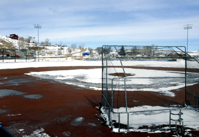 The baseball field at Craig Middle School is home to two varsity teams: Moffat County and Steamboat Springs. Weather has forced schedule changes for both teams, causing concerns by coaches about their pitching staff.