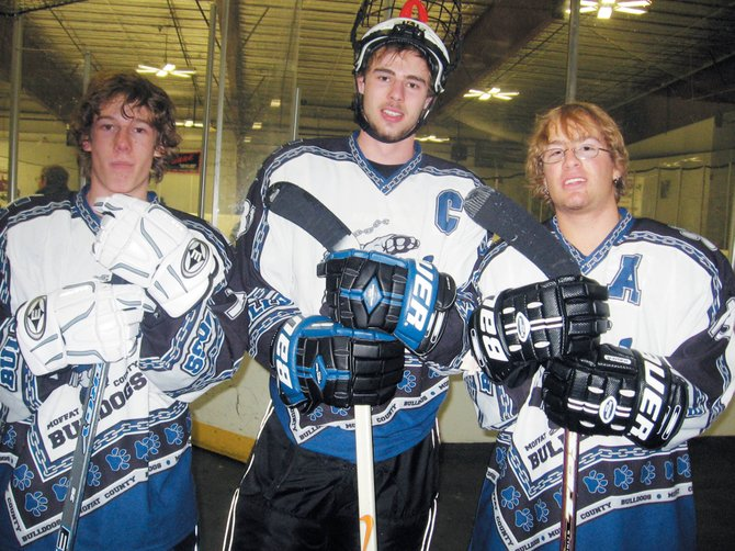 Moffat County midget hockey players Scott Criswell, Scott Smith and T.J. Anderson, of Steamboat Springs, will be traveling to Switzerland for a weeklong hockey camp.