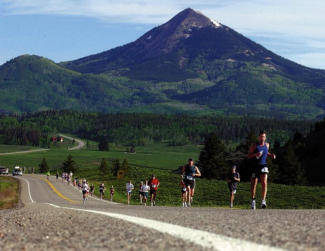The Steamboat Marathon rewards runners with gorgeous views of the scenery outside Steamboat Springs.