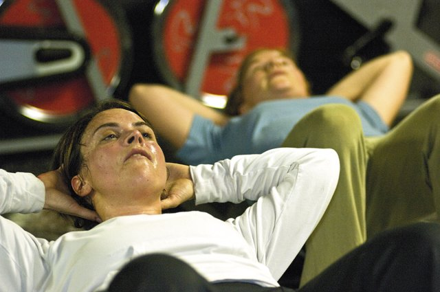 Jenn Warren leads the Hour of Power at Fusion Fit personal fitness studio in Steamboat Crossings. The concentrated fitness class is squeezed into 60 minutes and offers busy Steamboat residents a place to stay in shape with a no-nonsense form.