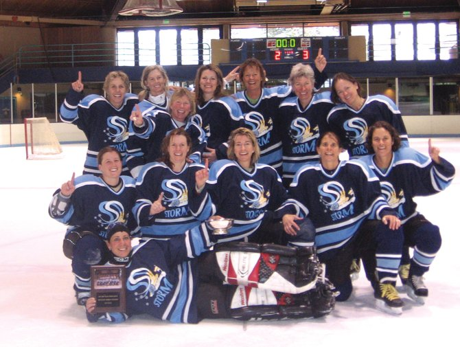 The Steamboat Storm won the 2008 WACH Mountain Division tournament April 4 to 6 in Vail, edging out Aspen in a shootout. Pictured are, top row, from left: Deb Rose, Shelia Farney, Diane Anderson, Krista Snyder, Kim Bonner, Patty Schovan and Sarah Katherman. Bottom row, from left: Alexa Pighini, Kelly Halpin, Laurie Milne, Marie Winter, Susie Leeson and Angie Harding. Not pictured: Melrose Kuusinen, Katie White and Marey Whelihan.
