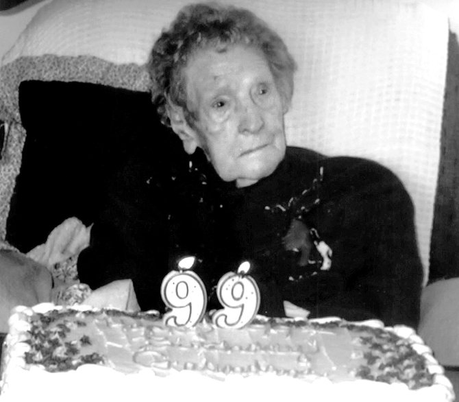 Edith Mae Ottens celebrates her 99th birthday three years ago. Ottens, now 102, still lives in the area.