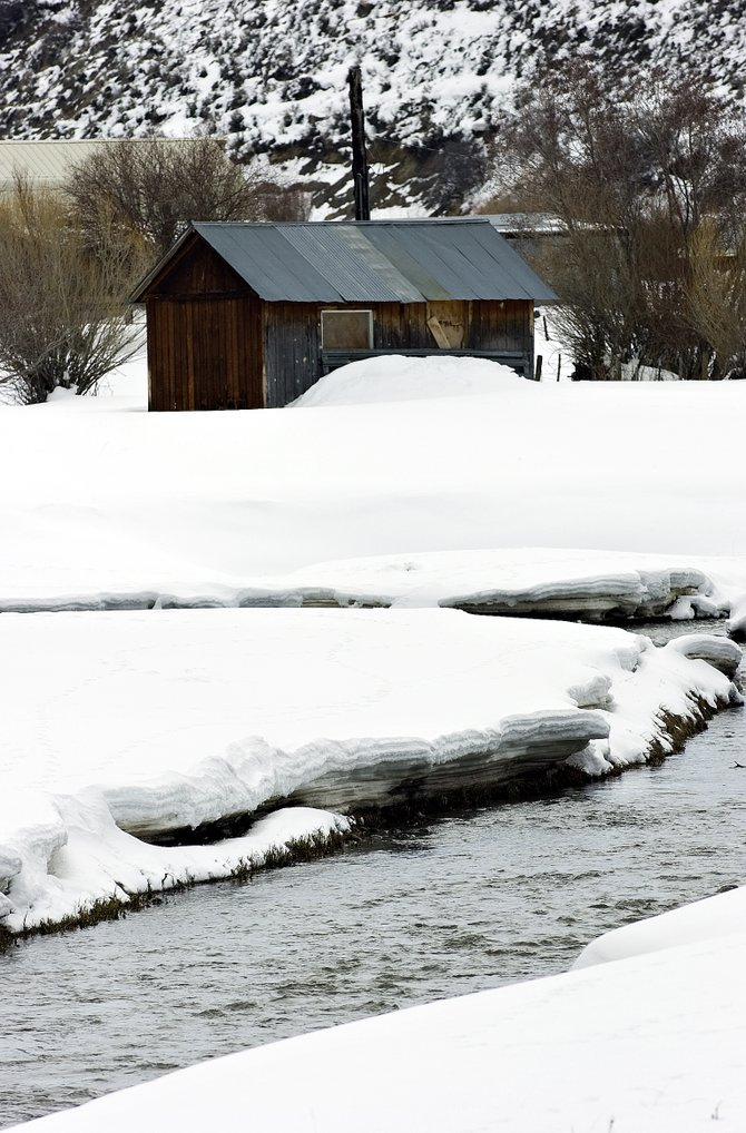 "The Yampa River, shown here in south Routt County, along with the Elk River, may experience what Routt County Emergency Management Director Chuck  Vale describes as ""high water"" in the coming months as snow runoff and rain combine to flood the waterways."
