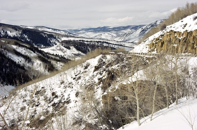 Scenic vistas are visible all around from the property currently under consideration for annexation near Minturn.