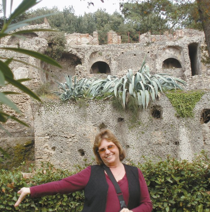 The ruins of Pompeii were among the sites visited by Craig resident Julie Hanna and other participants on CNCC's recent spring break trip to Italy and France. About one-third of participants were ages 50 or older.