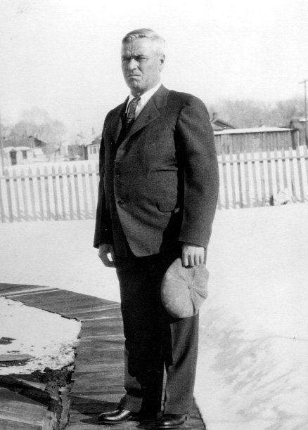 A photo of Joseph Biskup in the early 1930s. The photo was taken in Craig. Biskup brought his new wife to the area in 1907, and he was elected the first county surveyor when Moffat County was formed.
