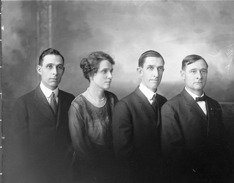 The children of Rowland and Laura Finley from left to right Robert, Catherine, William and James.