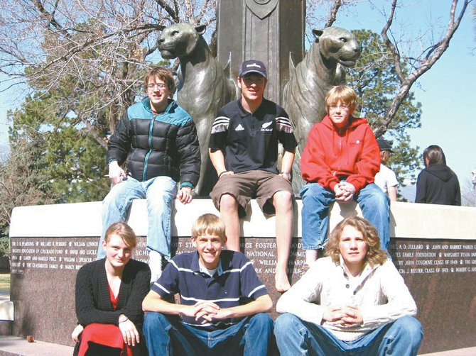 The Steamboat Springs High School Knowledge Bowl placed 13th out of 57 teams at the state competition, April 17 and 18 in Colorado Springs. Top row from left are Sean Fairlie, Sam Chovan and Ryan Hogrefe. Bottom row from left are Anna Roder, Charlie Stoddard and Aiden Rohde.
