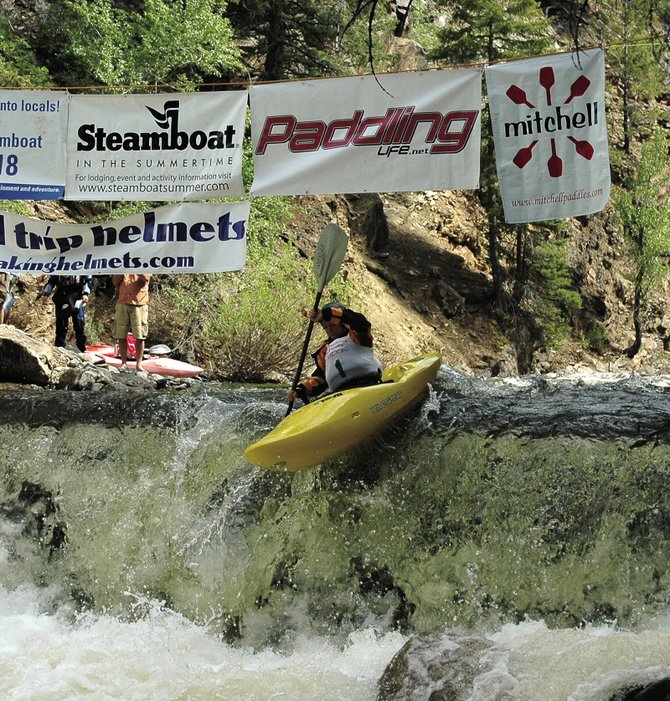 Australia's Tanya Faux took second place at the Charlie Beavers Classic downriver race portion of last year's two-part Paddling Life Pro Invitational on Fish Creek. Practice runs for this year's Life Pro Invitational will take place at 3 p.m. today at Fish Creek. The actual race will take place at 10 a.m. Monday.