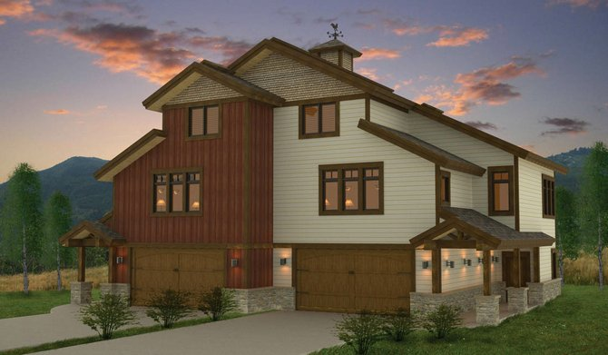 The three and four-bedroom townhomes breaking ground at Rocky Peak Village offer many of the features of a single-family home, including separate pantries and mud rooms.